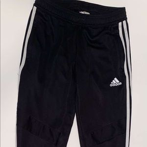 Black and white Adidas joggers women's